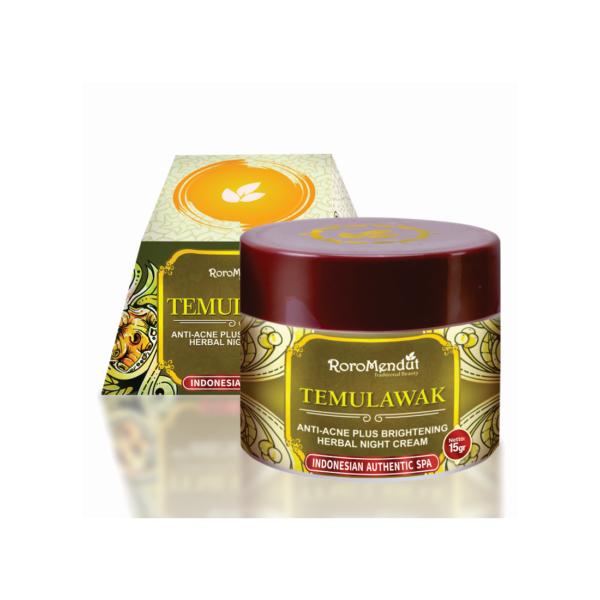 Temulawak Anti-Acne Plus Whitening Herbal Night Cream